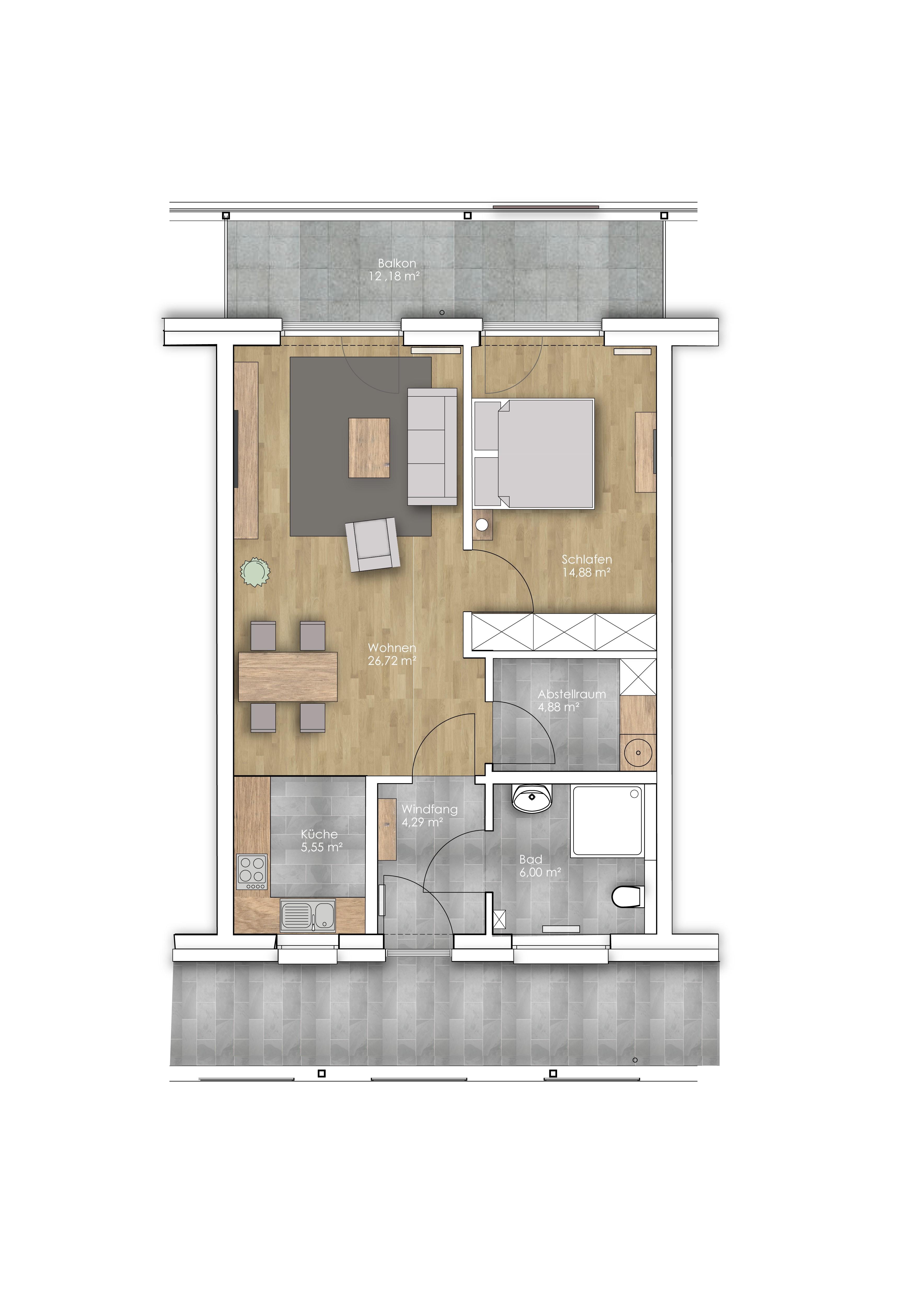 Vollmöblierte Wohnung in BESTER Lage mit Balkon und und und – Löwen ...